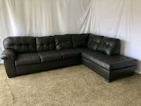 #1616 - Professionally Cleaned Sectional w Chaise Oregon City, 97045