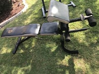 Black and gray exercise bench Rowlett, 75089
