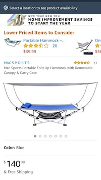 Collapsible hammock with canopy  Fairfax, 22030