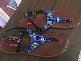 Jeweled sandals size 8