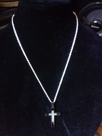 silver and black cross pendant necklace Corpus Christi, 78408