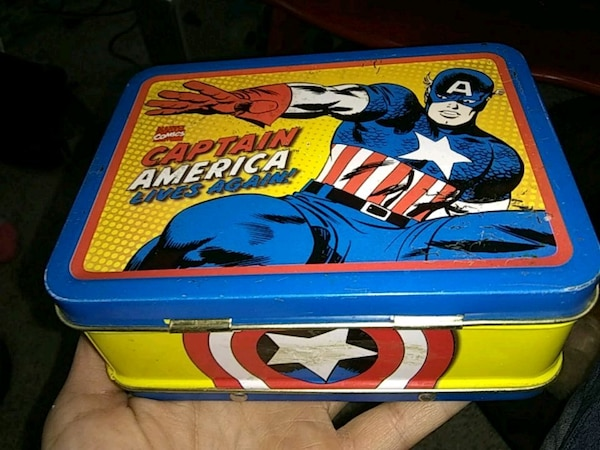 Captain America-themed cans