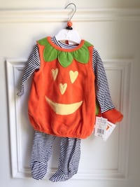 BRAND NEW! Infant Baby (3-6mo) Halloween Pumpkin Costume Pyjama Too