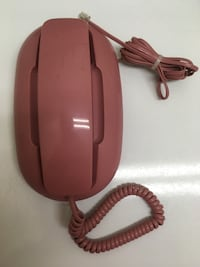 Pink Push Button Corded Telephone.