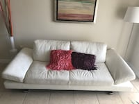 White genuine leather sofa from el dorado furniture, sofa bed as well Miami, 33187
