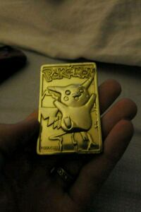 Gold plated pikachu #25 card Temple, 76502