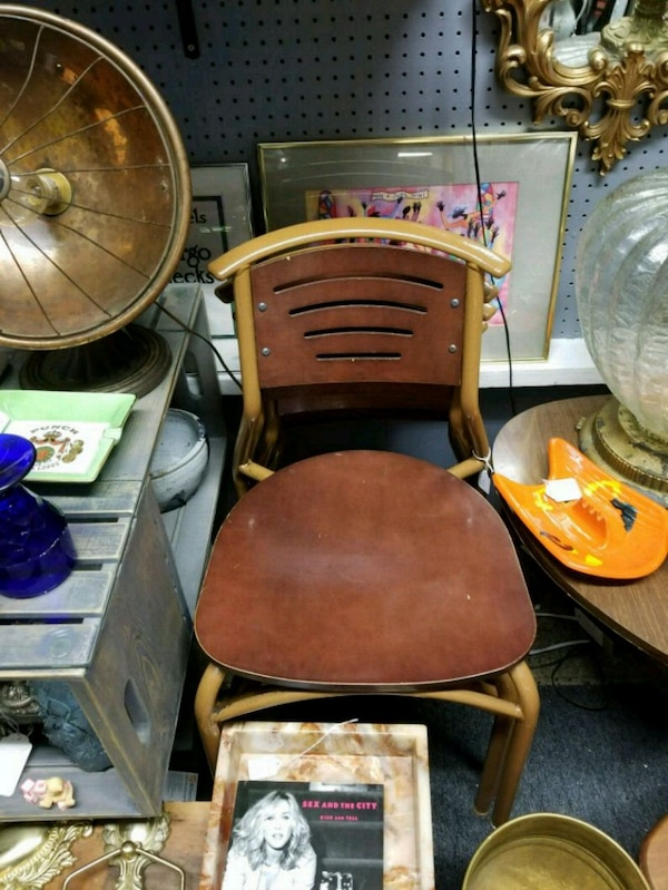 Set of 4 stacking Mid Century chairs