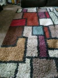 red, gray, and black area rug Stockton, 95215