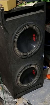 """Alpine type R 12"""" subwoofers in a slotported box with 1,500 watt amp"""