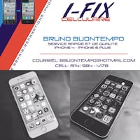 iPhone 5/6/7/8/X Cracked Screen Repair  Montréal, H1R 1M4