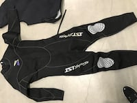 "IST wetsuit, men, M, fit 5'10""-6'. IST Vest, men, L"