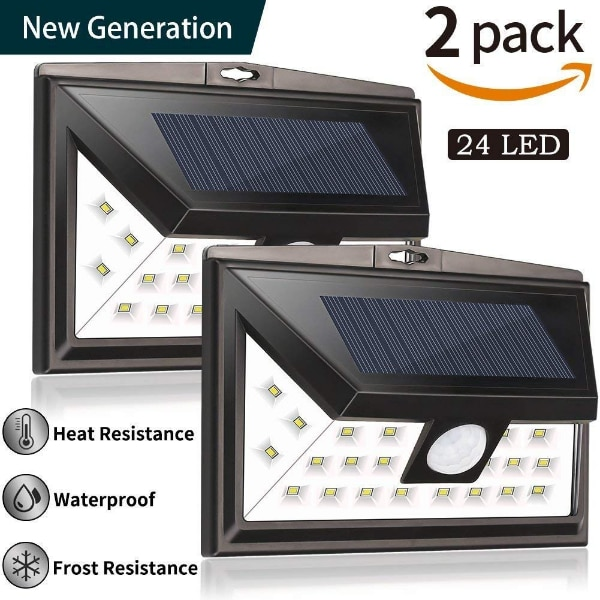 Used solar lights outdoor by woage 24 led solar powered security used solar lights outdoor by woage 24 led solar powered security light upgraded version ip67 wireless waterproof motion sensor solar lights outdoor wall aloadofball Images
