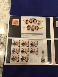 NHL 75th Anniversary Stamp Set Collectible