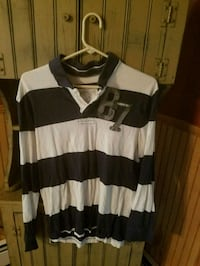 white and black striped scoop-neck shirt Guilford, 17202