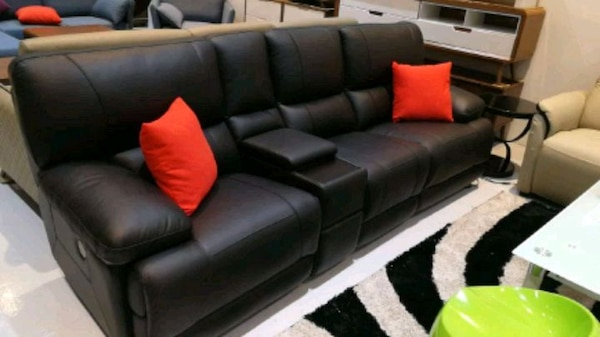 cow hide leather sofa