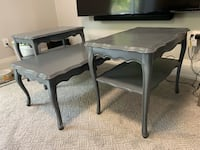 Grey Solid Wood Coffee & End Tables Set Mississauga, L5L 2M1