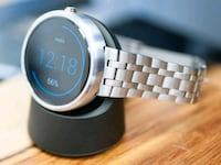 Moto 360 steel with box and charger Ottawa, K2B 7T1