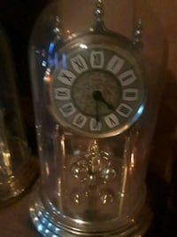 glass dome mantle clock Akron
