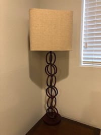 Pair of Tall Lamps - Red Circular/Geometric Style - $80 Los Angeles
