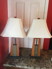 2 lamps $50