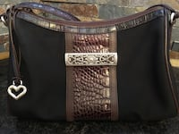 black and brown leather crossbody bag Houston, 77070