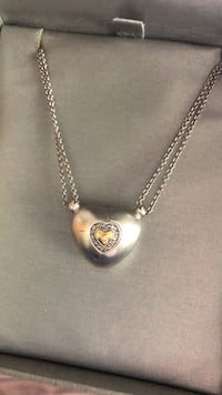 Heart of Gold- Sterling silver and gold necklace.  Lorton, 22079
