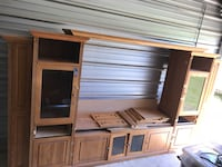 Brown and white wooden cabinet Foley, 36535