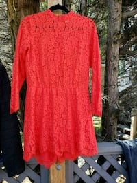 Hot red lace romper Vancouver, V5R 4T4