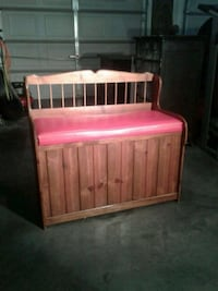 white and pink wooden bed frame 69 km