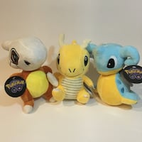 Pokemon GO! Plush toy set.  Cubone, Dragonite, and Lapras 3743 km