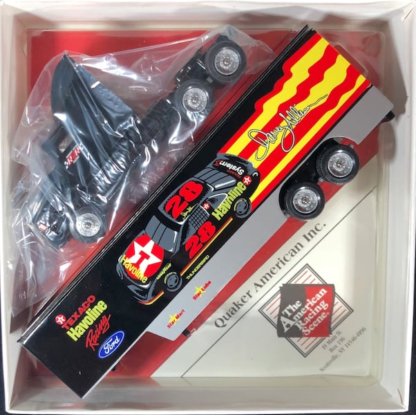 Davey Allison Texaco Havoline 1/64 Winross Hauler Transporter #19. New 1