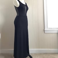 Black Maxi Front & Back Mesh Dress - Small Santa Clara, 95050