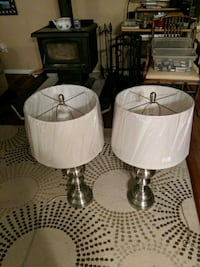 two white and gray table lamps Berkeley Township, 08721