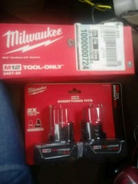 Milwaukee m12 3/8 ratchet with 2, 3.0 batteries