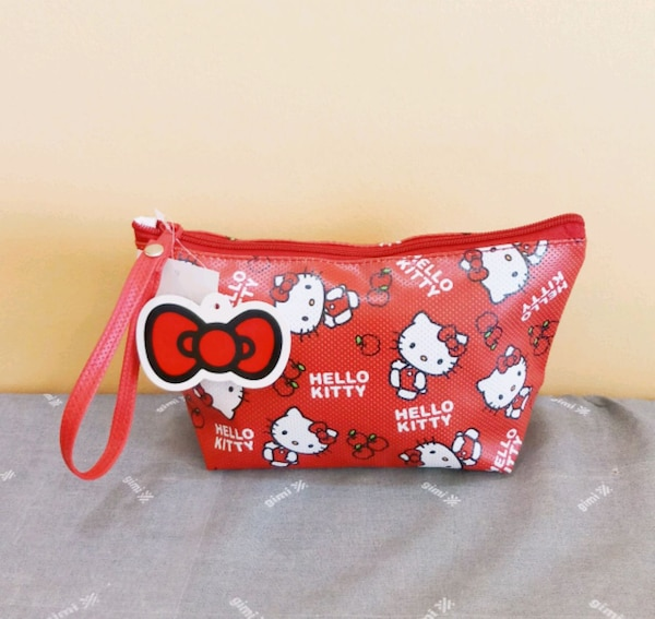 Hello Kitty Cosmetic Pouch / Wristlet (Size #1)