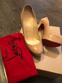 Christian Louboutin Patent Cream Pumps Richmond Hill