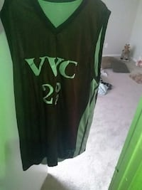 black and green basketball shirt Laurel, 20708