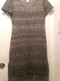 gray and black floral sleeveless dress Silver Spring, 20906