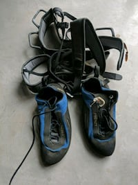 Climbing gear. Size 10 shoes. Size 34 waist.  Vancouver, V5T 1H2