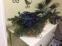 Peacock Floral Decorative Sled Sherwood Park, T8A 1Y5