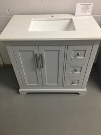 White wooden cabinet with drawer Toronto, M3J 2H2