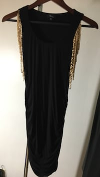 Sky Black and Gold chain dress
