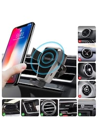 Wireless Car Charger,Gravity Car Wireless Fast Charger Mount Vent Car Kit Phone Holder for iPhone X/8 Plus/8,Samsung Galaxy S9/S9 Plus/S8/S8 Plus, Note 8 and Other QI-Enabled Devices 歐文, 92606
