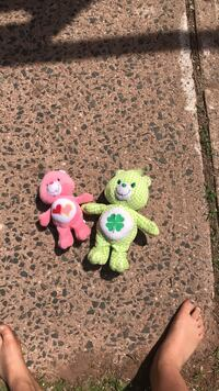 two green and pink animal plush toys Newington, 06111