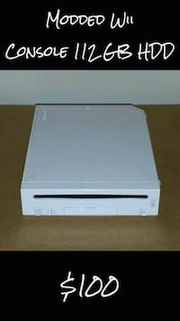 Modded Wii Console 112 GB HDD Los Angeles, 91401
