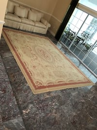 Brown and white floral area rug Ocala, 34471