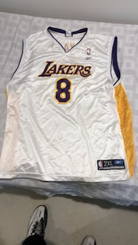 white and orange Lakers 24 jersey shirt Toronto, M3M