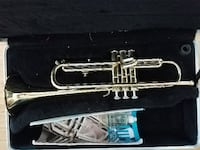 silver-colored trumpet with case Silver Spring