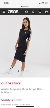 Adidas dress - size medium Delta, V4C 4H4