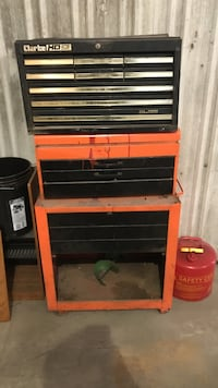 red and black Craftsman tool chest Morris, 60450